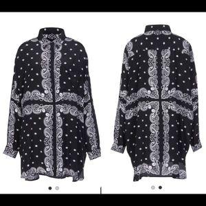 Ooh🔥 KENDALL + KYLIE S Silk Tunic Top Shirt Dress
